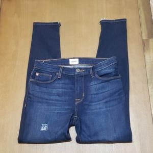 Hudson midrise ankle natalie super skinny jeans 28